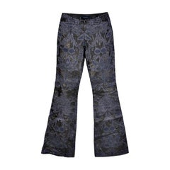 VINTAGE S/S 2000 TOM FORD for GUCCI EMBROIDERED LEATHER PANTS for MEN