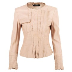 Vintage S/S 2004 Tom Ford for Gucci Nude Leather Jacket