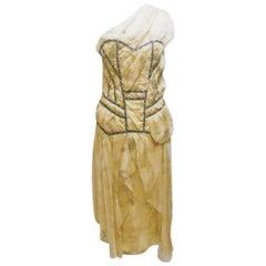 Vintage S/S 2006 John Galliano for Christian Dior Silk Dress
