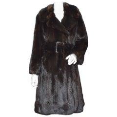 Vintage Sable Fur Belted Coat