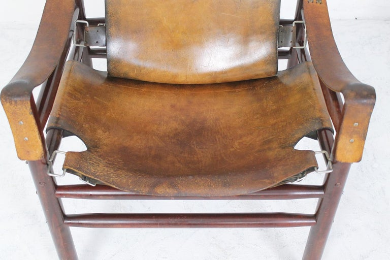Vintage Safari Armchair in the Manner of Arne Norell 1970s Hungary For Sale 4