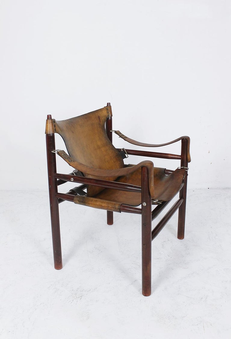 Vintage Safari Armchair in the Manner of Arne Norell 1970s Hungary For Sale 7