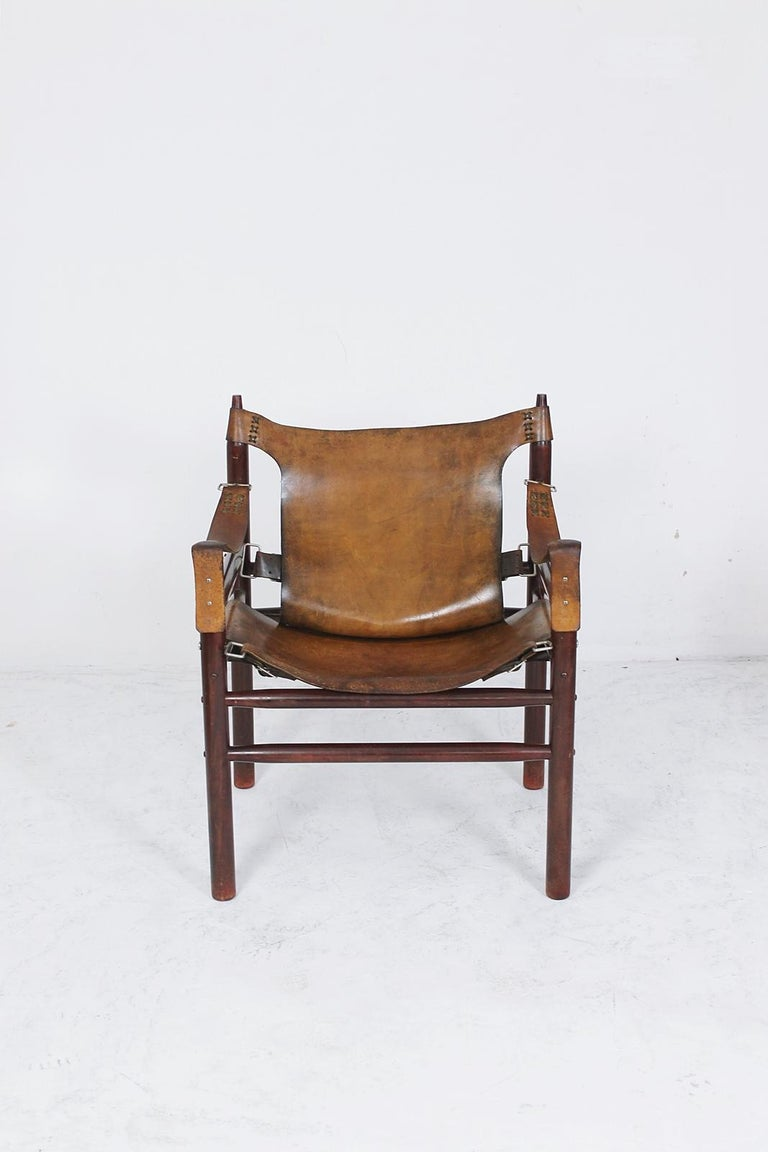 Vintage Safari Armchair in the Manner of Arne Norell 1970s Hungary For Sale 1
