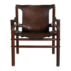 Vintage Safari Armchair in the Manner of Arne Norell, 1970s, Hungary