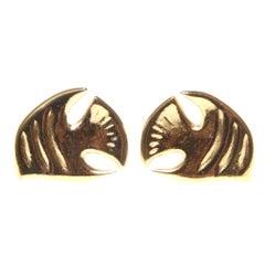 Vintage Saint Laurent YSL Fish Clip On Earrings