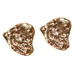 Vintage Saint Laurent YSL Love Heart Earrings