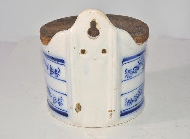 Hand-Crafted Vintage Salt Canister for Hanging For Sale