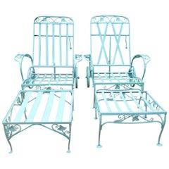 Vintage Salterini Pair Chaise Lounges