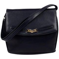 Vintage Salvatore Ferragamo Bag Navy Blue Leather Handbag W Shoulder strap