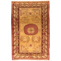 Vintage Samarkand 'Khotan' Hand Knotted Wool Rug