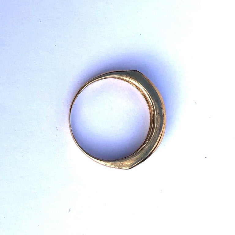 Round Cut Vintage Sapphire and Diamond 9 Carat Gold Half Eternity Band For Sale