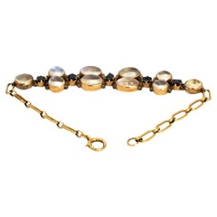 Vintage Sapphire and Moonstone Gold Bracelet