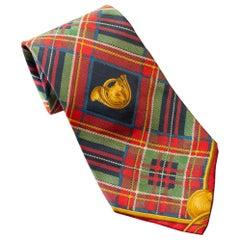 Vintage Saucaldi all-silk tie with tartan motif
