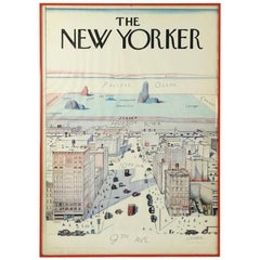 Vintage Saul Steinberg View from New York Manhattan