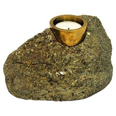 Vintage Saulo Candleholder Stone by Sulitjelma 1970s, Norway