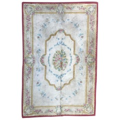 Vintage Savonnerie Style Hand Tufted Rug