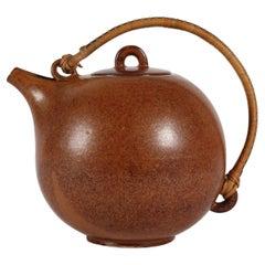Vintage Saxbo Ceramic Teapot Designed by Eva Stæhr Nielsen, Denmark 1949-1958