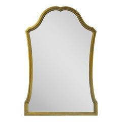 Vintage Scalloped Gilt Gold French Style Frame Mirror