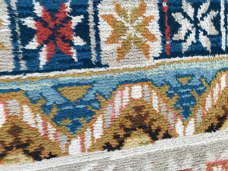 Wool Vintage Scandinavian Art Deco Design Rug For Sale