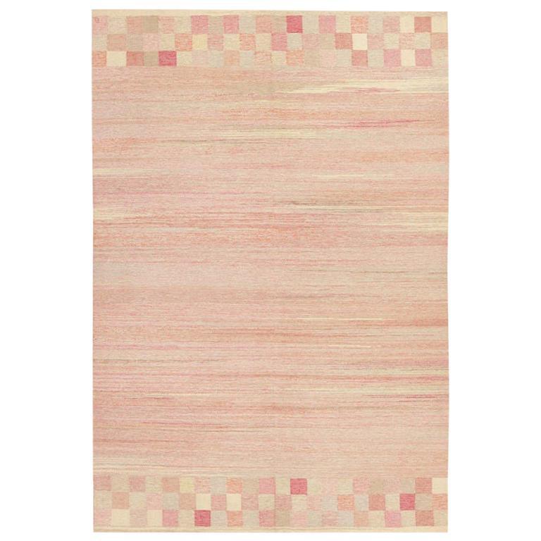 Vintage Scandinavian Art Deco Kilim Carpet. Size: 7 ft 3 in x 10 ft 8 in