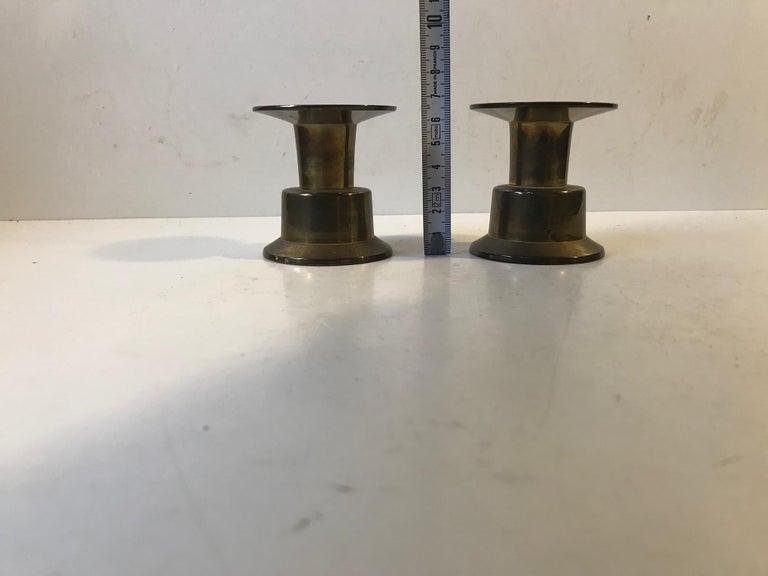 Vintage Scandinavian Brass Candlesticks by Rolf Karlsson, 1960s For Sale 3