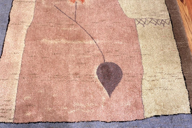 Vintage Scandinavian Ege Art Line Paul Klee Arab Song Rug, Date circa 1994 For Sale 3