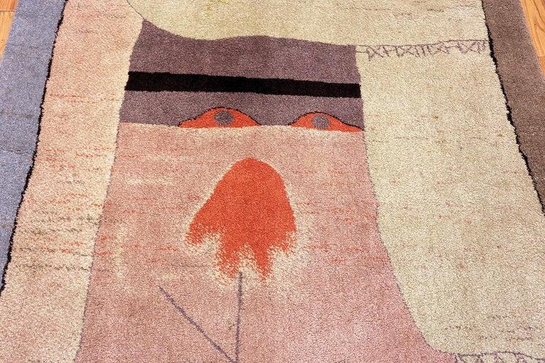 Danish Vintage Scandinavian Ege Art Line Paul Klee Arab Song Rug, Date circa 1994 For Sale