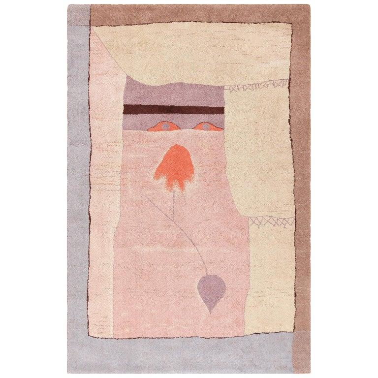 Vintage Scandinavian Ege Art Line Paul Klee Arab Song Rug, Date circa 1994 For Sale
