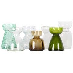 Vintage Scandinavian Hyacinth Glass Vases, 1960s