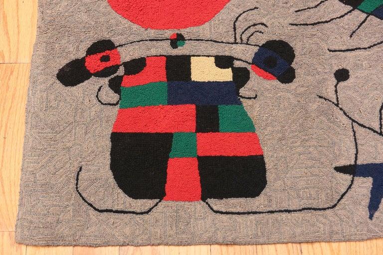Scandinavian Modern Vintage Scandinavian Joan Miró Tapestry 2 ft 9 in x 3 ft 7 in For Sale