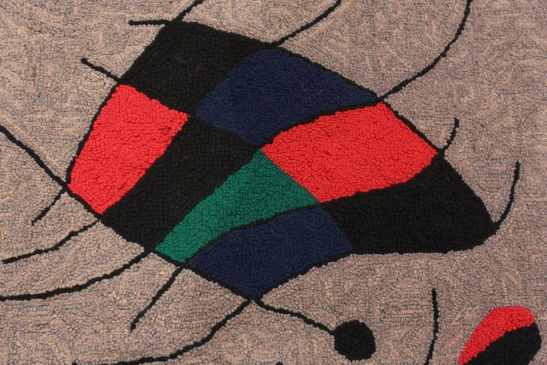 Hand-Crafted Vintage Scandinavian Joan Miró Tapestry 2 ft 9 in x 3 ft 7 in For Sale