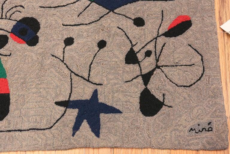 20th Century Vintage Scandinavian Joan Miró Tapestry 2 ft 9 in x 3 ft 7 in For Sale