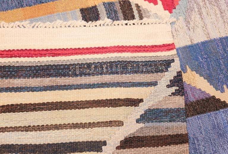 20th Century Vintage Scandinavian Kilim Rug by Ann Marie Hoke. Size: 6 ft 5 in x 10 ft 2 in  For Sale