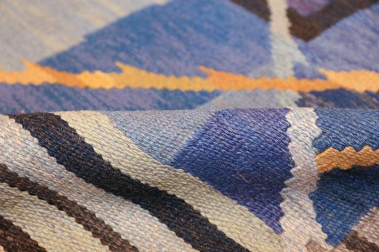 Wool Vintage Scandinavian Kilim Rug by Ann Marie Hoke. Size: 6 ft 5 in x 10 ft 2 in  For Sale
