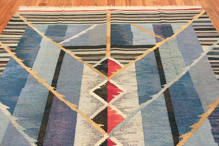 Vintage Scandinavian Kilim Rug by Ann Marie Hoke. Size: 6 ft 5 in x 10 ft 2 in  For Sale 1