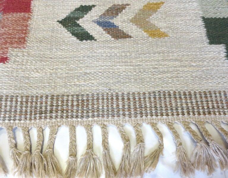 Hand-Woven Vintage Scandinavian Kilim Rug, circa 1950s For Sale