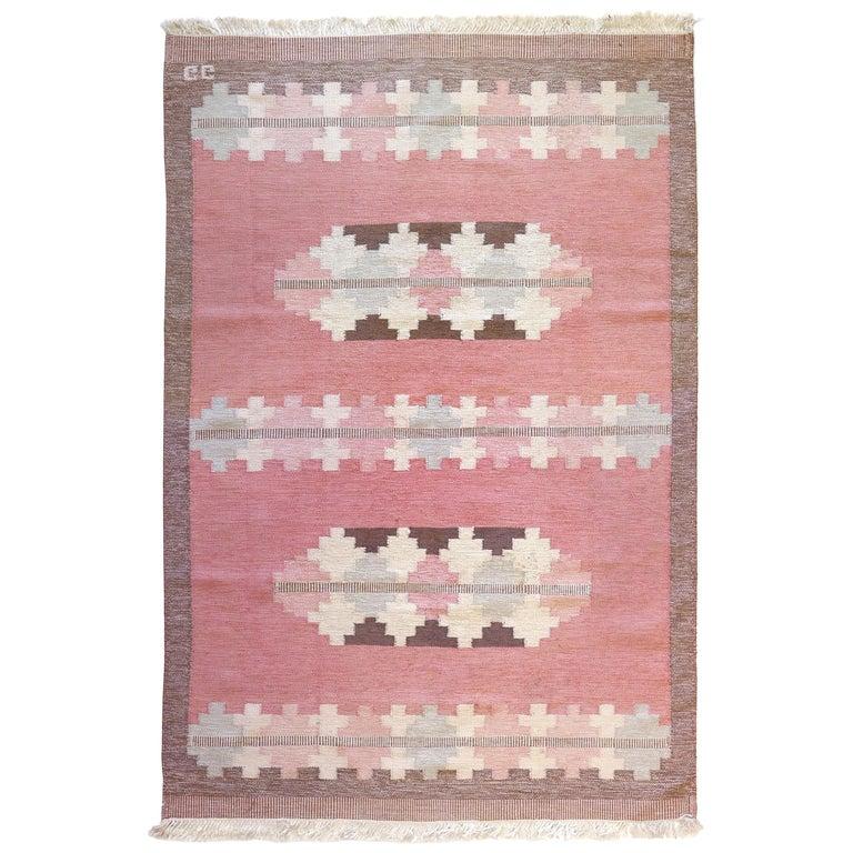 Vintage Scandinavian Kilim Rug, circa Mid-20th Century For Sale