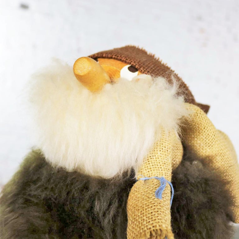 Vintage Scandinavian Large Gonk Troll Tomte Gnome Figure Style of Hans Bolling For Sale 5