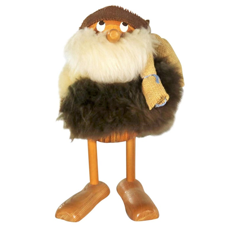 Vintage Scandinavian Large Gonk Troll Tomte Gnome Figure Style of Hans Bolling For Sale