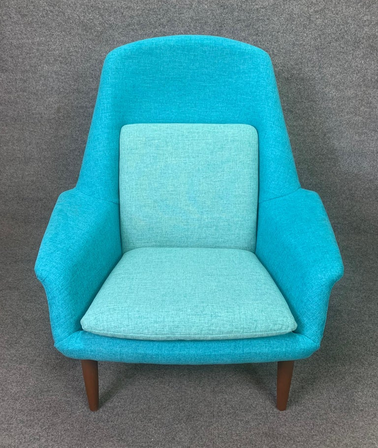 Hand-Crafted Vintage Scandinavian Mid-Century Modern Lounge Chair by Broderna Anderssons For Sale