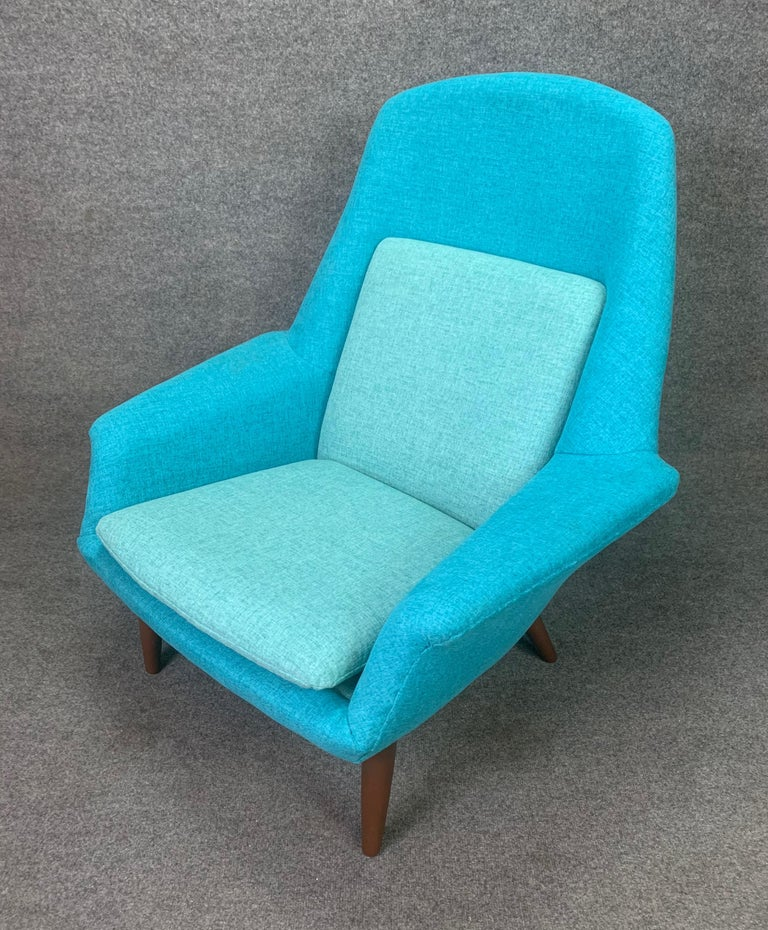 Vintage Scandinavian Mid-Century Modern Lounge Chair by Broderna Anderssons In Good Condition For Sale In San Marcos, CA