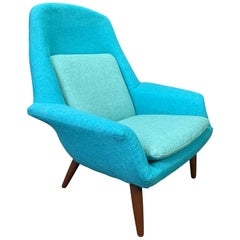Vintage Scandinavian Mid-Century Modern Lounge Chair by Broderna Anderssons