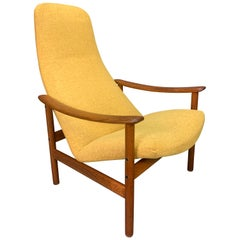 Vintage Scandinavian Mid-Century Modern Teak Lounge Chair by Alf Svensson