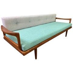 Vintage Scandinavian Mid-Century Modern Teak Sofa Daybed by Edvard Kindt-Larsen