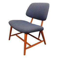 "Vintage Scandinavian Mid-Century Modern ""TeVe"" Lounge Chair by Alf Svensson"