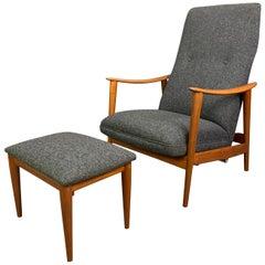 Vintage Scandinavian Midcentury Lounge Chair & Ottoman by Arnt Lande & Westnofa