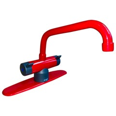 Vintage Scandinavian Modern Damixa Faucet Fitting, Cherry Red, Denmark, 1983