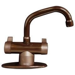 Vintage Scandinavian Modern Damixa Faucet Fitting, Deep Brown, Denmark, 1983