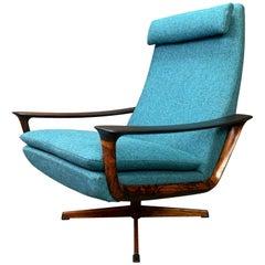 Vintage Scandinavian Modern Rosewood Lounge Chair by Johannes Andersen & Trensum