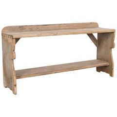 Vintage Scandinavian Pine Bench